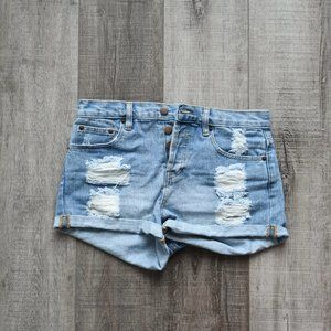 Forever 21 Distressed Jean Shorts Size 27